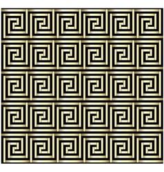 Greek Key Gold Design vector image