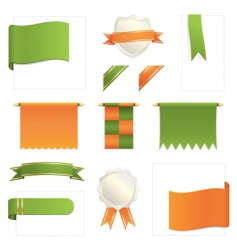 Green and orange design elements vector