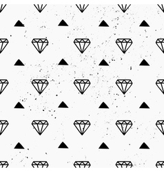 Hand drawn diamonds abstract seamless pattern vector