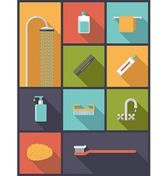 Personal hygiene flat design icons vector