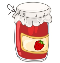 cartoon home kitchen jar vector image