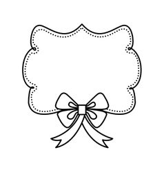 Label and decoration bowtie icon hand draw design vector