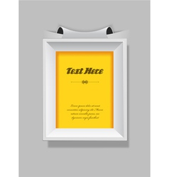 Picture frame with place for your own text vector