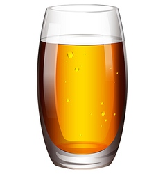 A glass of cocktail vector image