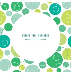 abstract green circles circle frame seamless vector image