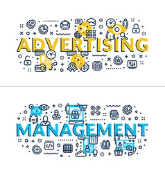 Advertising and management headings titles vector