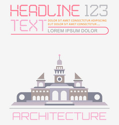 Architecture template vector