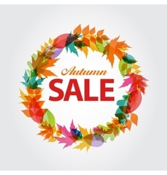 Autumn Sale Concept vector image
