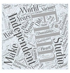 Filmmaking In the Beginning Word Cloud Concept vector image vector image