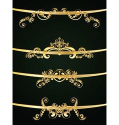 Golden Floral Ornament4 vector image vector image