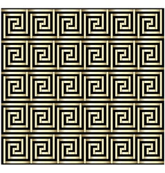 Greek Key Gold Design vector image vector image