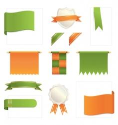 green and orange design elements vector image vector image