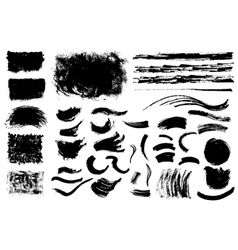 Grunge shapes vector