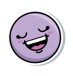 happy face emoji icon vector image