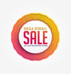 mega diwali sale banner design background vector image