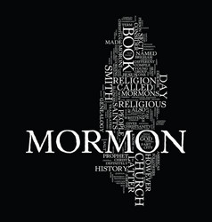 Mormon church genealogy text background word vector