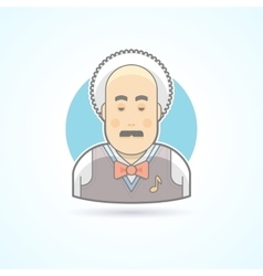 Musical teacher musician icon Avatar and person vector image