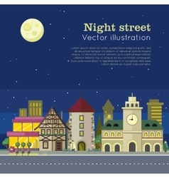 Night City Web Banner vector image vector image