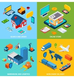 Online store and delivery vector