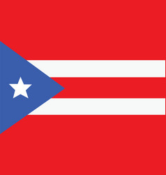 Puerto rico flag for independence day and vector