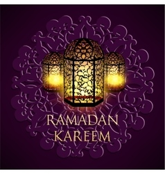 Ramadan kareem greeting ornate background vector