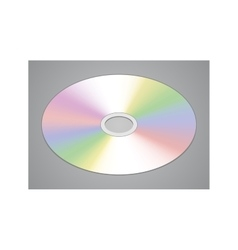 Realistic CD or DVD disk isolated vector image vector image