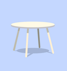 round table for modern living room reception or vector image