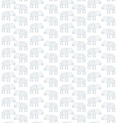 seamless pattern lamb Doodle vector image