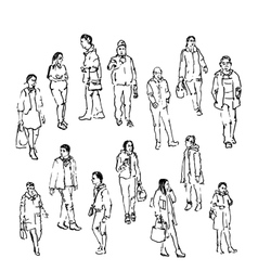 sketch of people vector image vector image