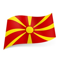 State flag of macedonia vector