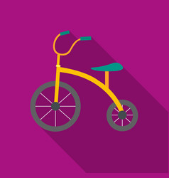 Tricycle icon in flat style isolated on white vector