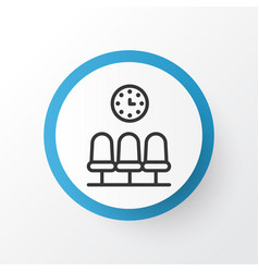 waiting room icon symbol premium quality isolated vector image