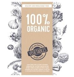 Retro organic food background vector