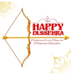 Happy Dussehra festival of India background vector image