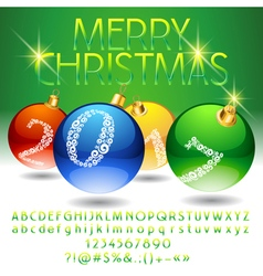 Glossy merry christmas 2017 greeting card vector