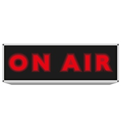 On air sign vector