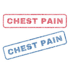 Chest pain textile stamps vector