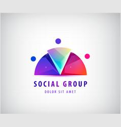 men social relationship logo and icon 3 vector image