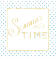Summer time calligraphy vector