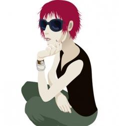 sunglasses woman vector image