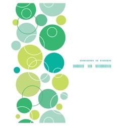 abstract green circles vertical frame seamless vector image