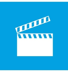 Film white icon vector