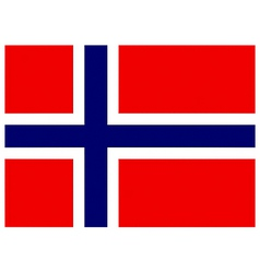 Norwegian flag vector