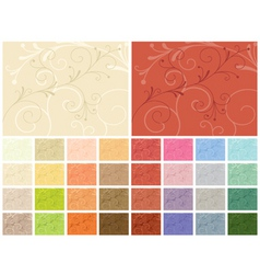 Abstract backgrounds 32 color variations vector