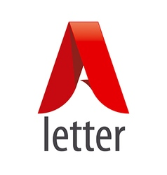 logo red letter A in the form of a tape vector image