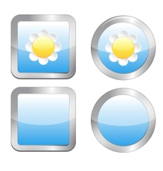 Buttons with daisy vector image