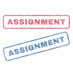Assignment textile stamps vector