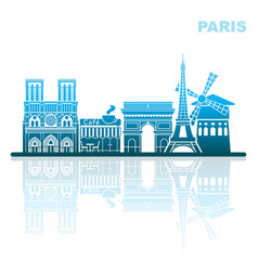 attractions paris abstract landscape vector image