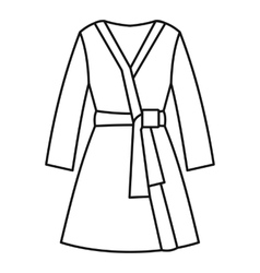 Bathrobe icon outline style vector image vector image