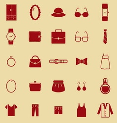 Dressing color icons on brown background vector image